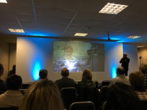 Talking Tourism and 360 VR for your business' marketing. Gareth talking 360VR at the conference