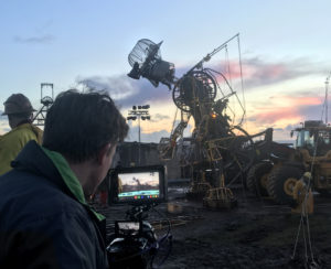 Chris filming The Man Engine at Geevor Tin mine Cornwall