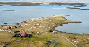 The Falkland Islands from the air