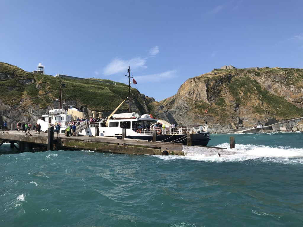 The landing stage at the Isle of Lundy