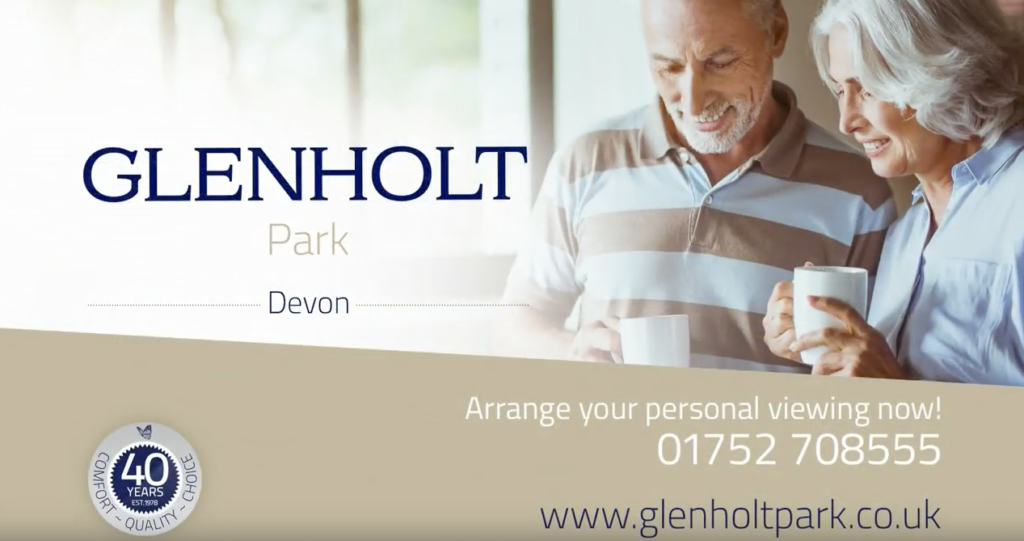 Glenholt Park, an idyllic residential area of park homes for retired and semi-retired people.