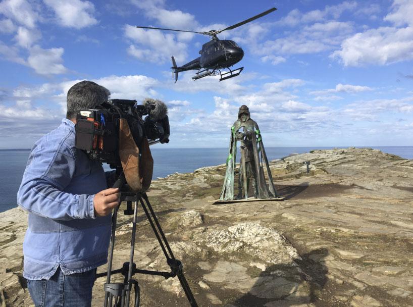 Tintagel Castle Aerial Video