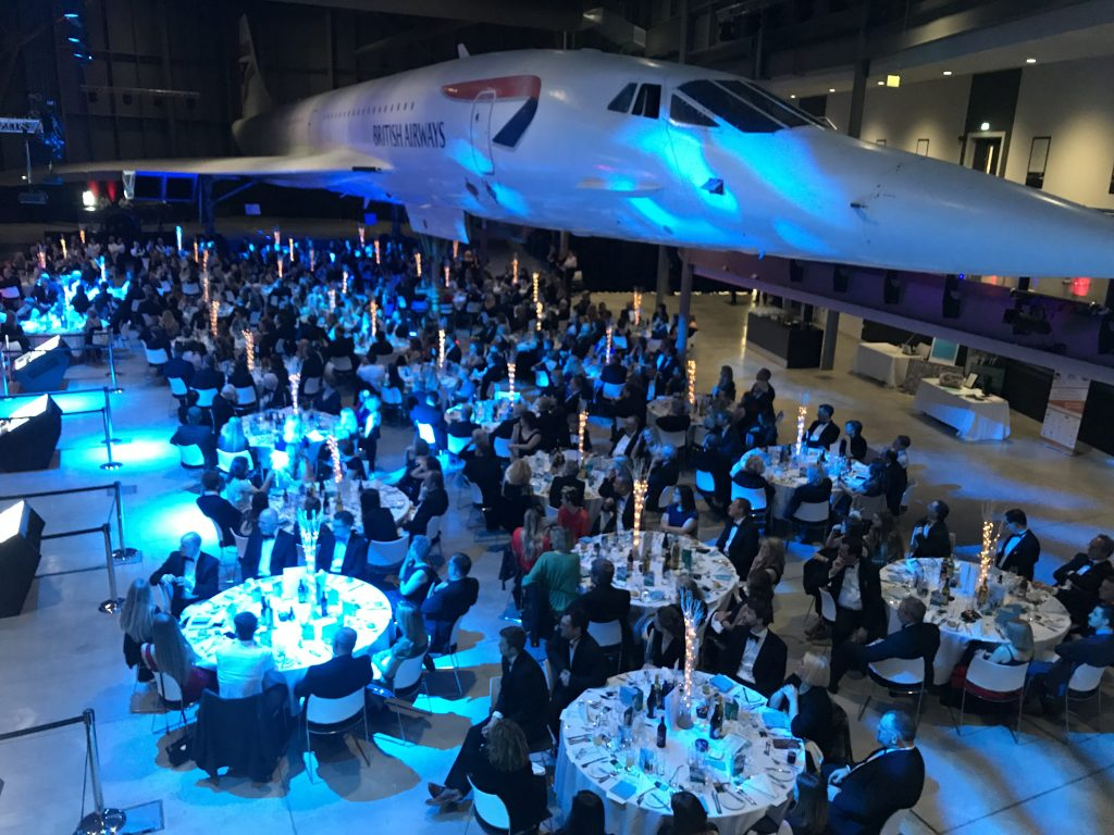 Last year's South West Tourism Awards ceremony at Aerospace Bristol