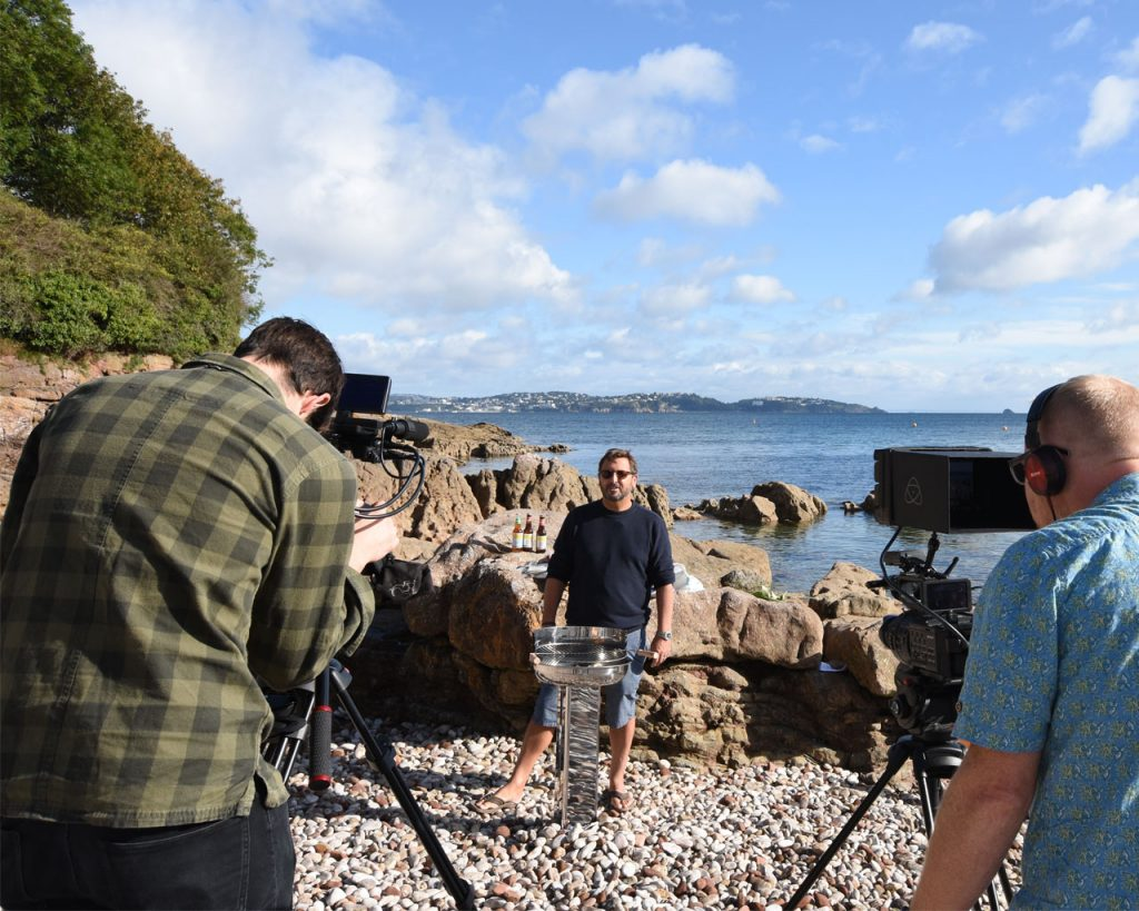 Food and drink showreel shoot at Elberry Cove