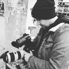 James Cox shooting with the FS7
