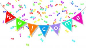 welcome bunting with confetti from video to reassure blog