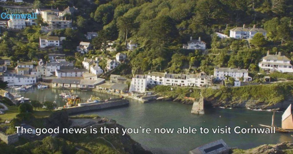 Visit Cornwall's new video screengrab aerial view-Cornish-harbour