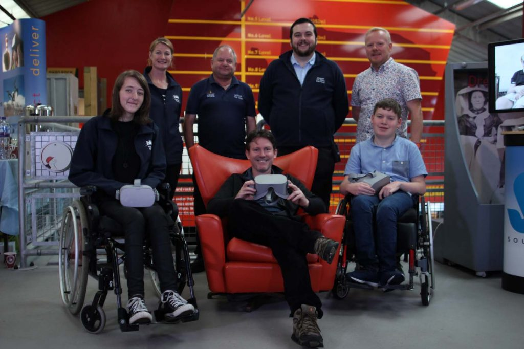 The Soundview Cornwall video production team with the teams from Geevor and Heritage Ability responsible for making the virtual reality tour shortlisted for a Museums and heritage Innovations Award