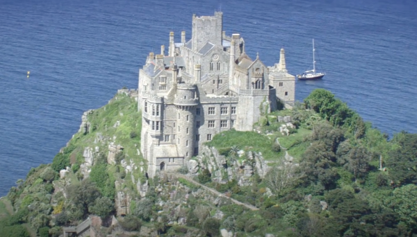 lstill-from-an-aerial-video-flying-over-St-Michaels-Mount-by-Plymouth-video-production -company-who-celebrates-as-South-West-Tourism-tops-the-Visit-England-Excellence-Awards