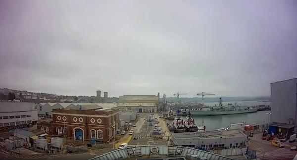 Babcock time-lapse video still of Devonport for HMS Bulwark