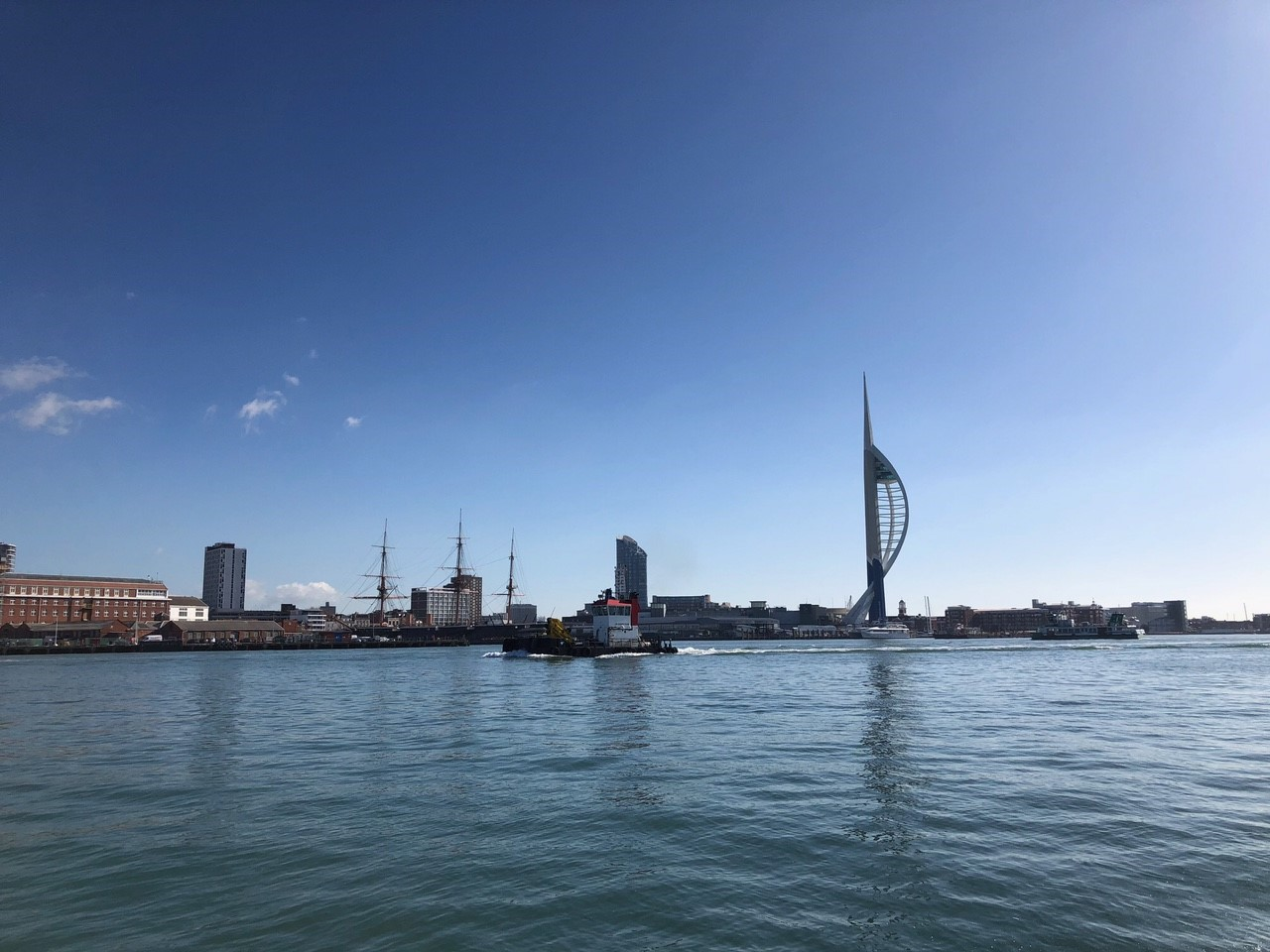 Portsmouth from the ocean from Wetwheels powerboat.