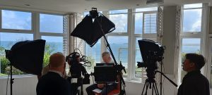 Visit Cornwall webinar on location with Cornwall video production company Soundview