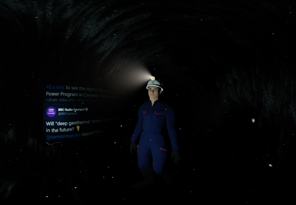 VR Lucy in mines